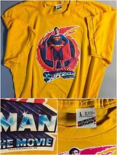 VTG Unused 1978 Superman Justice League D.C. Comics Movie Batman Reeve T-Shirt