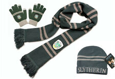 Harry Potter Slytherin Knit Scarf+Cap/Beanie/Hat+Gloves Soft Warm Costume Gift