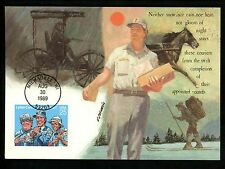 US FDC #2420 Letter Carriers 1989  Fleetwood Cachet Maximum Card