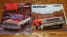 1983 1984 Dodge Pickup Sales Brochure Lot 83 84 Ram