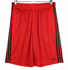 Adidas Mens Tripple Up 2.0 Red Black Relaxed Fit Basketball Shorts Size Large