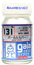 GAIA COLOR 131 Pearl Silver GUNDAM MODEL KIT LACQUER PAINT 15ml NEW Free Ship