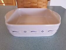 Longaberger Pottery 8 X 8 Baking dish New Design Classic blue NEW in box