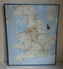 vintage michelin metal map