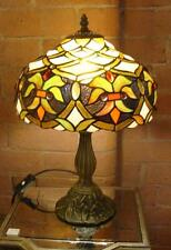 Mullticoloured Stained Glass Tiffany Table Lamp - 46cm High