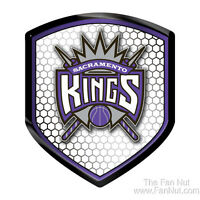 Sacramento Kings Hi-Intensity SHIELD Reflector Emblem Decal Auto Home Basketball