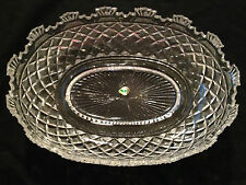 WATERFORD KENNEDY CRYSTAL HERITAGE COLLECTION RARE VINTAGE OVAL BOWL
