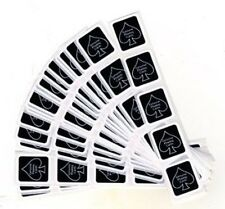DECK SEAL BLACK LOT OF 12 SEAL STICKERS BY USPCC BICYCLE MAGIC CARD TRICKS GAFF