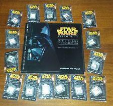 Complete Set Unopened Star Wars Hologram Metal Pins With Folder