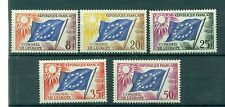 BANDIERE - FLAGS FRANCE for EUROPA COUNCIL 1958/1959 Official Stamps