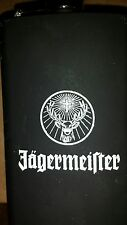 NEW Jagermeister Stainless Steel Pocket Flask Buck Reindeer Deer Logo with cross