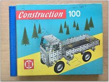 Collectible set catalogue Construction 100 metallbaukasten metal kit the GDR era