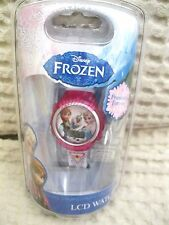 Disney Kids' Frozen Olaf,Anna and Elsa Digital Display Watch With White Rub-New!