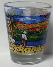 ARKANSAS STATE SHOT GLASS NEW