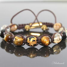 Herren Edelstein Shamballa Mythischer Vogel Phoenix  Beads Armband für Männer