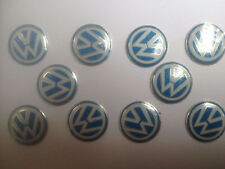 New 10PCS VW Remote Folded Car Remote Control Key Metal Aluminum Logo Badge