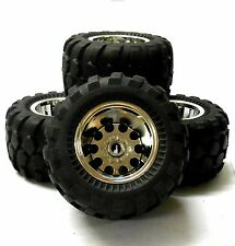HS211506FR 1/10 Off Road Tamiya Caravan Monster Truck RC Wheels Tyres Chrome V2