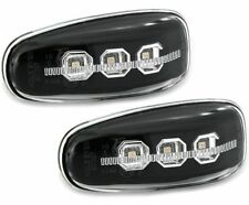 BLACK LED SIDE REPEATERS INDICATORS + SURROUNDS FOR MERCEDES W210 VITO SPRINTER
