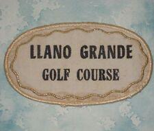 """Llano Grande Golf Course Patch - vintage - Texas - 4 1/8"""" x 2 3/8"""""""