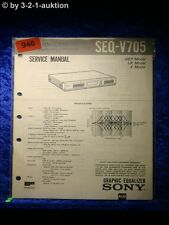Sony Service Manual SEQ V705 Graphic Equalizer  (#0946)