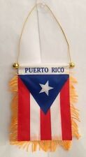 PUERTO RICO MINI FLAG BANNER CAR REARVIEW MIRROR