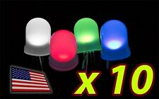 [10x] 10mm RGB LED Diffused Lens Common ANODE - LARGE