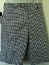 Polo Ralph Lauren Blue Gingham Shorts Flat Front Size 36 NWT