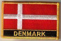 Denmark Danish Dane Country Flag Embroidered Patch T9