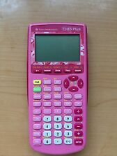 Texas Instruments TI 83 Plus Pink Taschenrechner Calculator