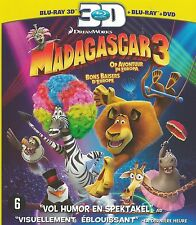 Madagascar 3: Europe's Most Wanted   new sealed dvd / Blu-ray & 3 DBlu-ray