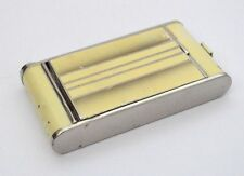 VINTAGE ART DECO CREAM 'ESDRA' KAMRA COMPACT - LIPSTICK, POWDER & CIGARETTE CASE