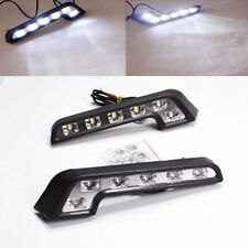 2x Super White L Shaped 12V 6 LED Car Driving Lamp Fog DRL Daytime Running Light