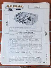 MOPAR OEM 1959 Chrysler Radio Bendix Model 928 Photofact Folder
