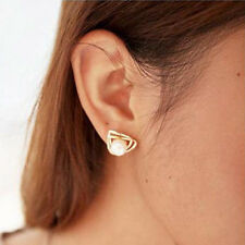 New Fashion Korean Jewelry Double Pearl Earings Woman Girl Heart Earrings