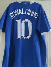 Brazil 2006 Ronaldinho 10 Away Football Shirt Size XXL /40585
