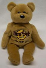 Hard Rock Cafe NEW YORK CITY ISAAC BEARA TEDDY BEAR Bean Bag STUFFED ANIMAL Toy