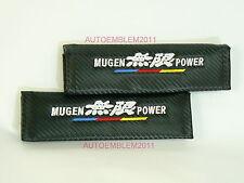 Honda Mugen Carbon Fiber Style Racing Seat Belt Shoulder Pads Cushion EM2