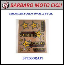 KIT ADESIVI STICKERS SPESSORATI PLASTIFICATI ROCKSTAR MOTO CROSS ENDURO SCOOTER