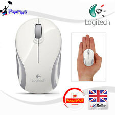 Nuevo Logitech M187 Wireless Mini Mouse Blanco Reino Unido Stock