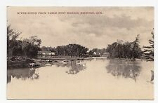 Pike River from Cable Foot Bridge BEDFORD Quebec Canada 1907 A.S. Gould Postcard