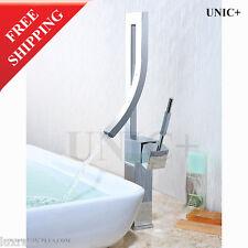 Italian Modern Design Bathroom Vessel Sink Waterfall Faucet Tap Mixer BVF002