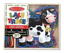 Melissa and Doug - Farm Animals Lace and Trace Wooden Panel # 3781