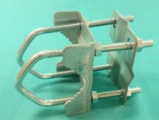 """MAST TO BOOM RIGHT ANGLE OR PARALLEL CLAMP 2"""" X 1.5"""" 8 NUT UNIVERSAL CLAMP BE605"""