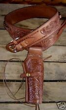 NEW Brown Leather Single Western  Cowboy Holster 38/357 cal x