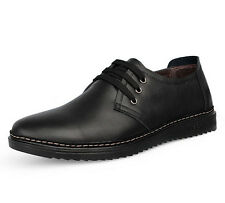 Men's Classic Business Dress Shoes Oxford Leather Lace Up Casual Loafers Shoes