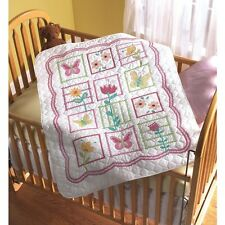 "Bucilla Sophie Crib Cover Stamped Cross Stitch Kit, 34"" x 43"" 43902 Baby Quilt"