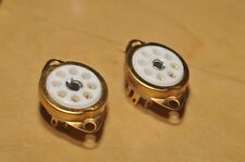 Gold Europe style Ceramic Tube Socket EL41 EF40 EF42 ECC40 AZ41 B8A X4 free ship