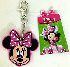 "DISNEY MINNIE MOUSE BACKPACK PURSE BAG CLIP 4.5"" LONG PINK TAG CHARM NEW TAG"