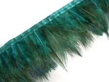 F480 PER FEET-Turquoise Peacock Hackle feather fringe Trim Fascinator Material