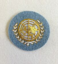 UN Beret Badge, United Nations, Embroidered, Cap, Army, Headwear, Military